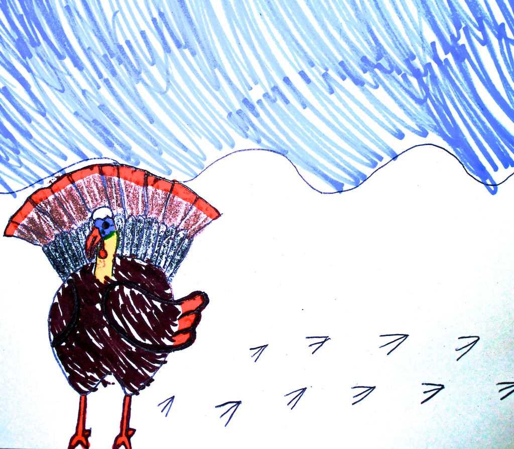Gobble Gobble Turkey In A Snowstorm
